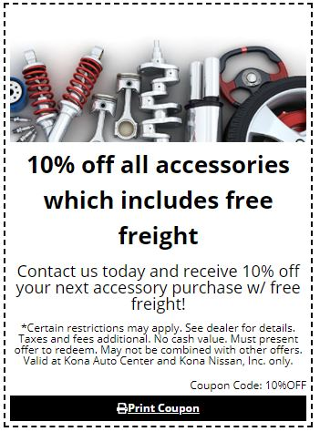 10% off all accessories which include free freight